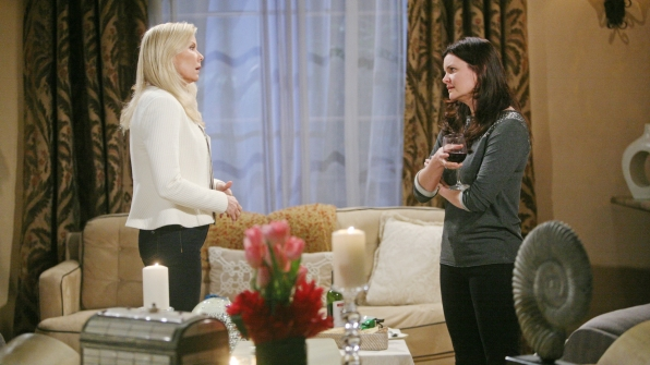 Katie takes a proactive step to deal with her anger towards Brooke and to save her marriage.