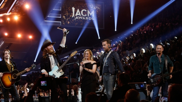 Brothers Osborne wins New Vocal Duo Or Group Of The Year presented by T-Mobile at the 52nd ACM Awards