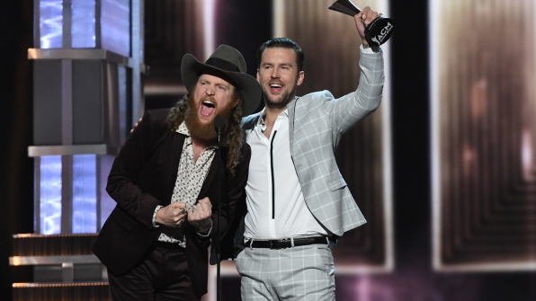 Brothers Osborne wins Vocal Duo Of The Year at the 52nd ACM Awards