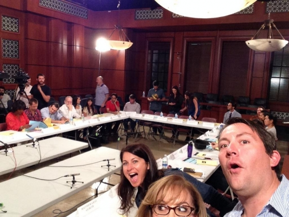 Twitter @CM_SetReport: Serious? Us? Nooo. #criminalminds EP10x03 read through @Vangsness @rickdunkle #ericamesser