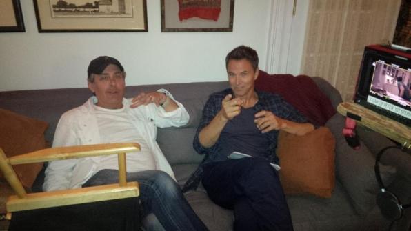 Director David Semel and Tim Daly