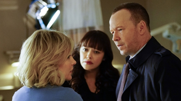 Amy Carlson as Linda Reagan, Marisa Ramirez as Detective Maria Baez, and Donnie Wahlberg as Detective Danny Reagan