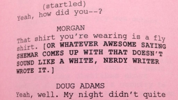 "Twitter @CM_SetReport: Page 9 from #CriminalMinds EP10x04 ""The Itch."" #tablereadfunnies #breenfrazier"