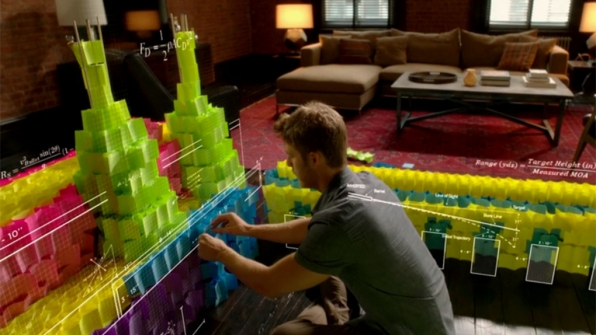 Reconstructing a crime scene with colored notes