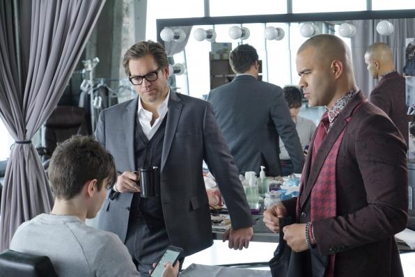 Michael Weatherly as Dr. Jason Bull and Chris Jackson as Chunk Palmer