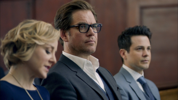 Geneva Carr as Marissa Morgan, Michael Weatherly as Dr. Jason Bull, and Freddy Rodriguez as Benny Colón