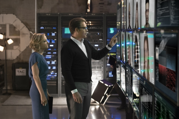Geneva Carr as Marissa Morgan and Michael Weatherly as Dr. Jason Bull