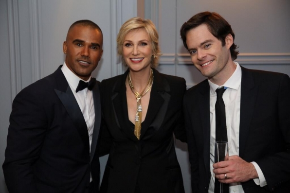 Jane Lynch and Bill Hader