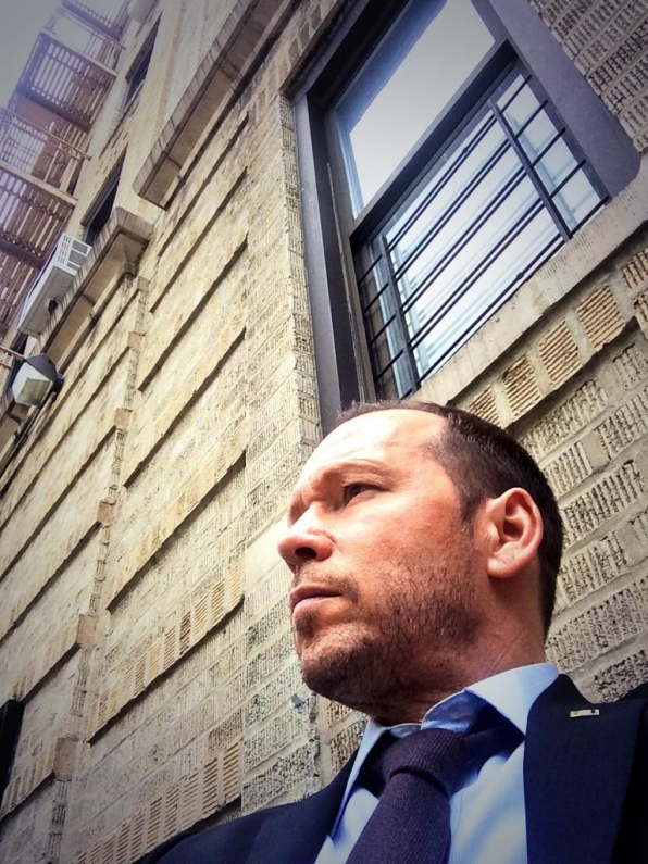 Donnie on Set