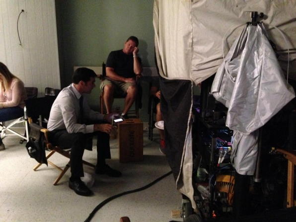 Twitter @CM_SetReport: Director #ThomasGibson backstage with #CriminalMinds Crew on EP 10x06 Day 7 of 8.