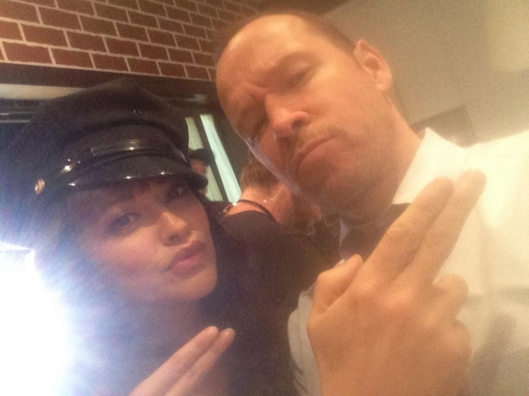 Marisa Ramirez and Donnie Wahlberg