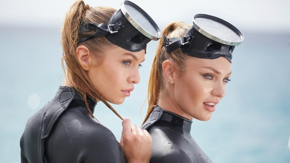 Dive in the deep end with the Victoria's Secret Angels