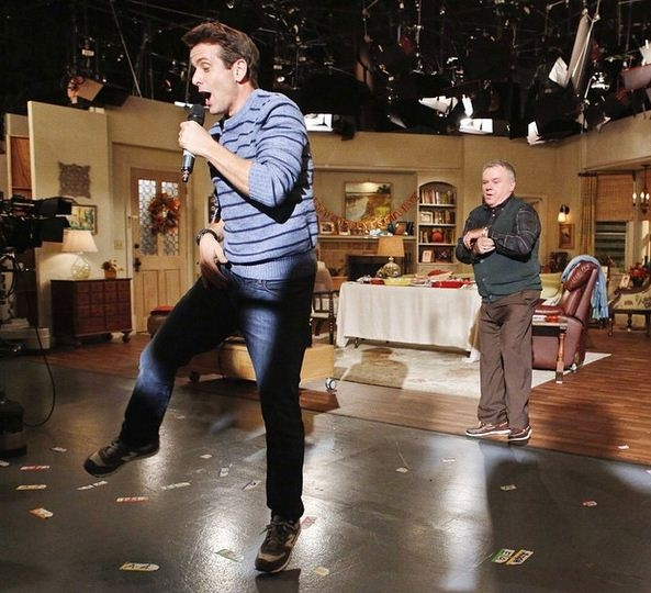 The McCarthys Instagram - Joey Dances on Set