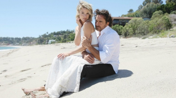 Caroline and Ridge married in Malibu on B&B.