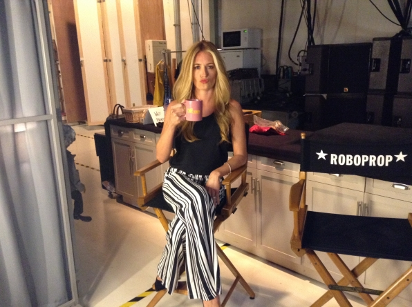 Cat Deeley  - Behind the Scenes at The Late Late Show
