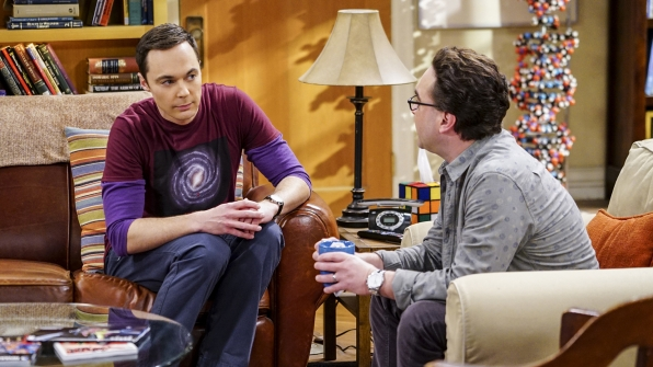 Sheldon offers to help Leonard with his marriage woes.
