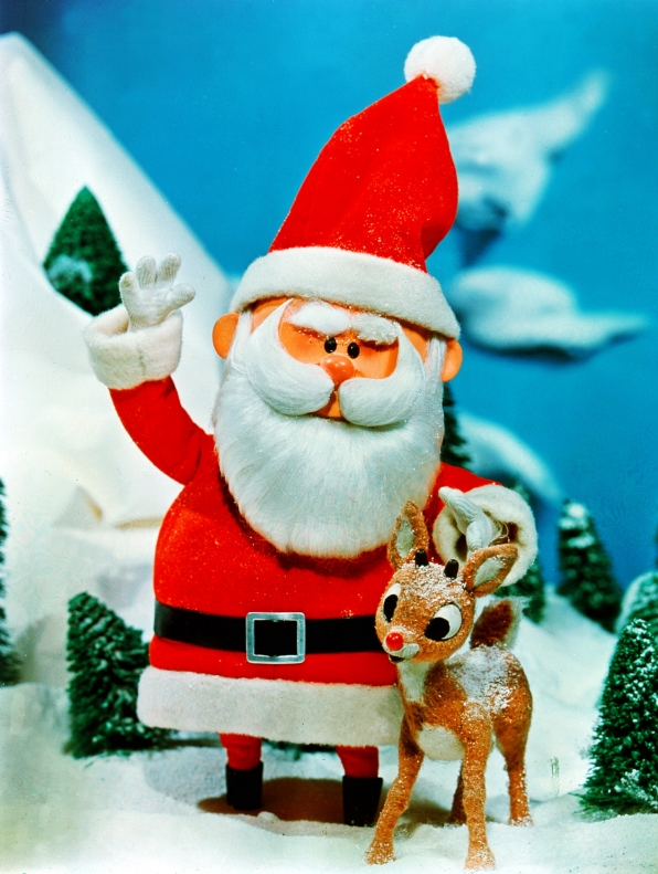 Santa with Rudolph
