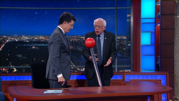 Mystery Guest Bernie Sanders Appeared On The Late Show with Stephen Colbert