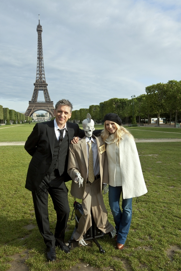 Craig Ferguson, Kristen Bell and Geoff Peterson