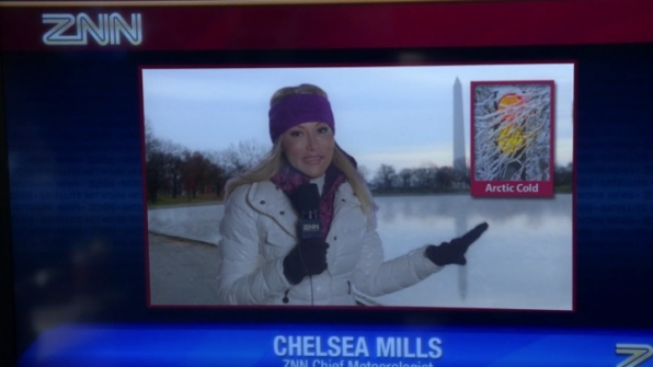 2. Jackie Johnson, who plays Chelsea Mills, is a real-life meteorologist.