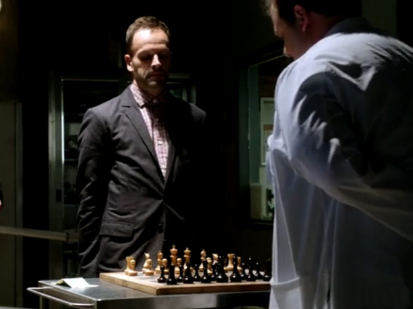 4. A lot of thought went into what game Sherlock would play against the morgue attendant.