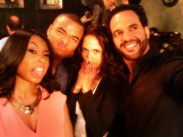 35. Angell Conwell, Redaric Williams, Christel Khalil and Kristoff St John - The Young and the Restless