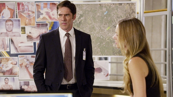 Hotchner and his girlfriend broke up. - <em>Criminal Minds</em>