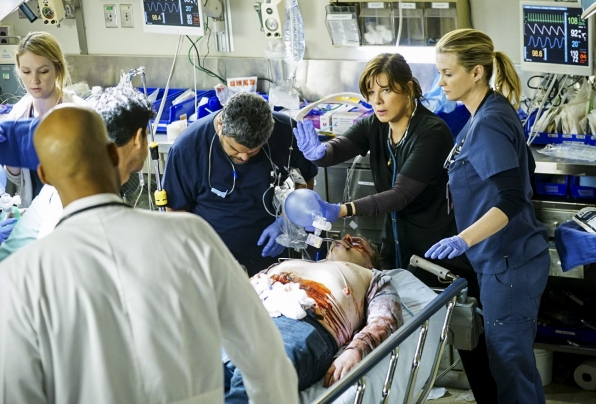 Luis Guzmán as Jesse Sallander, Marcia Gay Harden as Dr. Leanne Rorish, and Bonnie Somerville as Dr. Christa Lorenson