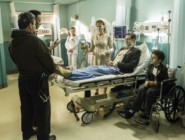 Luis Guzmán as Jesse Sallander and William Allen Young as Dr. Rollie Guthrie