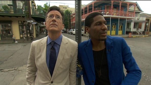 Stephen Colbert and Jon Batiste relished in the musical vibes of New Orleans.