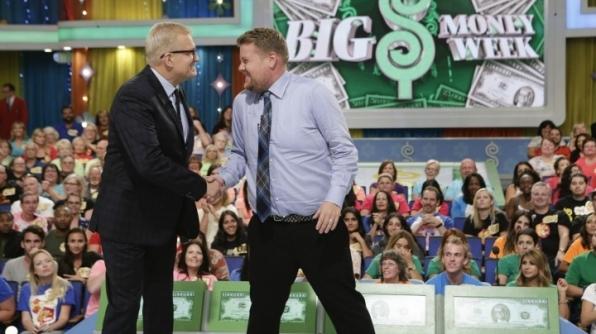 #BigMoneyWeek kicked off with guest model James Corden.