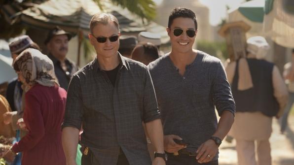 Jack Garrett and Matthew Simmons survey the scene in Egypt.