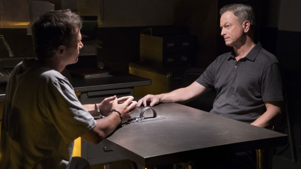 Unit Chief Jack McGarrett interviews a suspect.