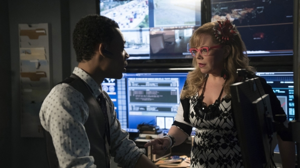 Monty is questioned by Penelope Garcia.