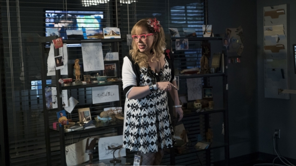 The BAU's Penelope Garcia appears in Monty's office.