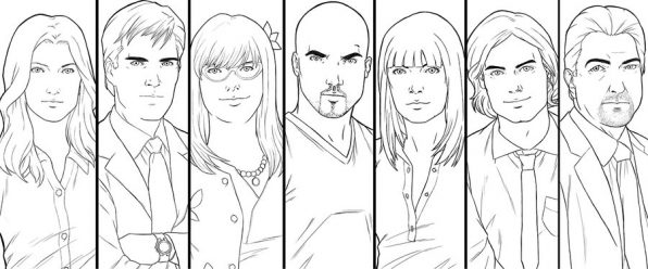 Criminal Minds Line Art
