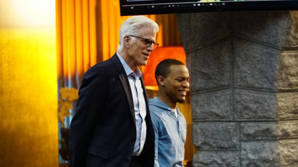 Ted Danson as D.B. Russell and Shad Moss as Brody Nelson