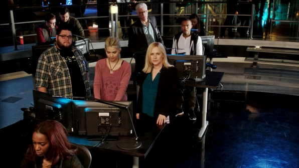 Charley Koontz as Daniel Krumitz, Hayley Kiyoko as Raven Ramirez, Ted Danson as D.B. Russell, Patricia Arquette as Avery Ryan, and Shad Moss as Brody Nelson