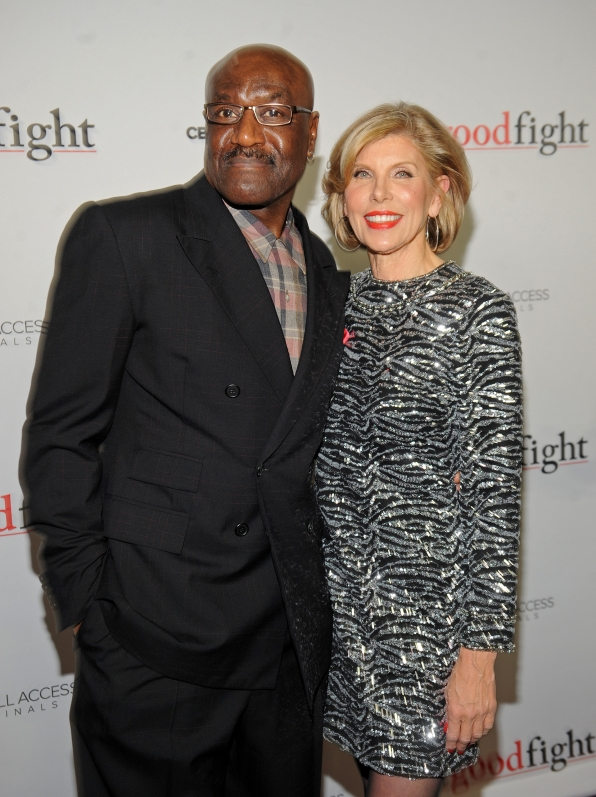 Christine Baranski and Delroy Lindo pose for a perfect snap.