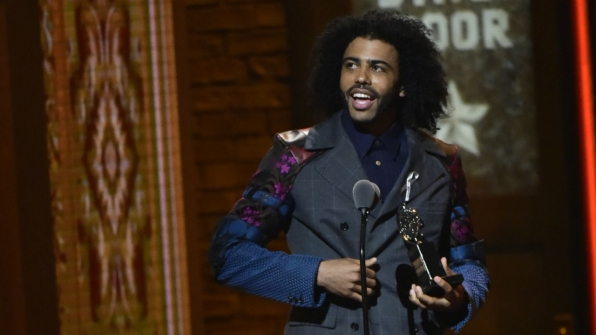 Daveed Diggs wins the 2016 Tony Award for  Best Performance by an Actor in a Featured Role in a Musical.