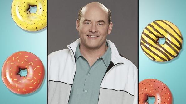 "David Koechner, who plays Carl ""Tush"" Tushinski"