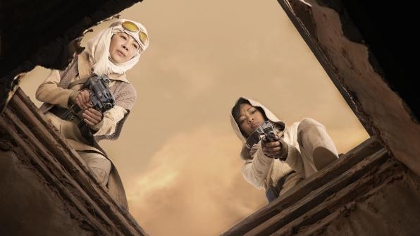 Captain Philippa Georgiou (Michelle Yeoh) and First Officer Michael Burnham (Sonequa Martin-Green)