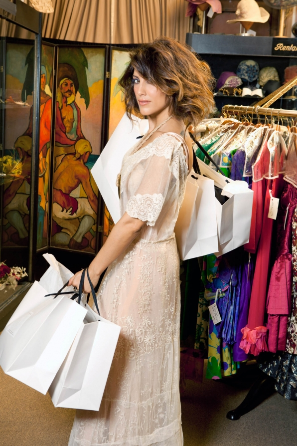 Jennifer Esposito, especially when she takes us on a shopping spree