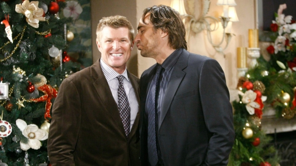 Did someone stand under the mistletoe? Brothers Thorne and Ridge get silly at the family home.