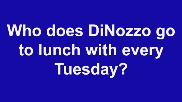 1. Who does DiNozzo go to lunch with every Tuesday?