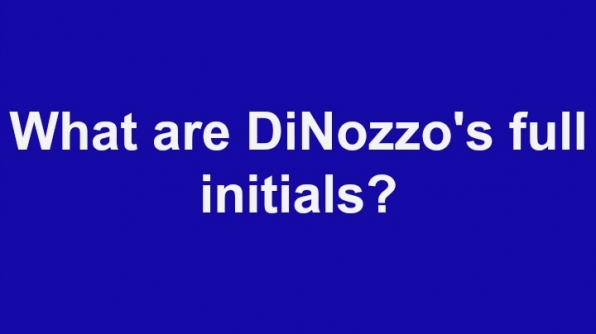 11. What are DiNozzo's full initials?