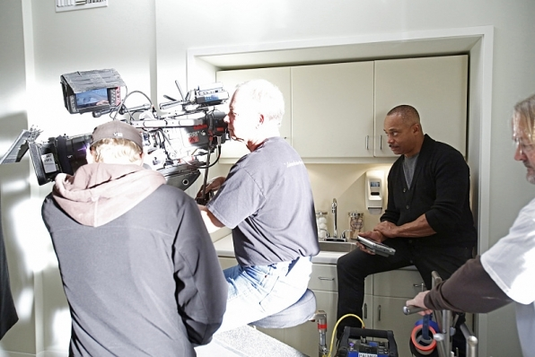 Rocky Carroll looked good calling the shots while he directed an episode of NCIS.