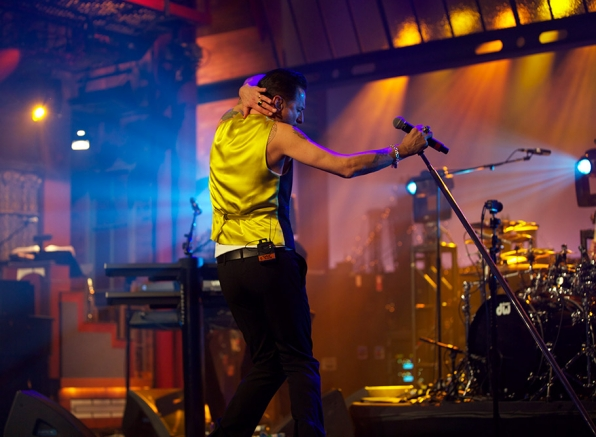 "Depeche Mode performs ""Live On Letterman."""
