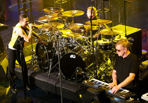 "Depeche Mode in their ""Live On Letterman"" concert."