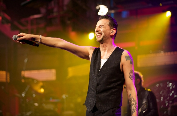 Dave Gahan fronts Depeche Mode at the Ed Sullivan Theater.